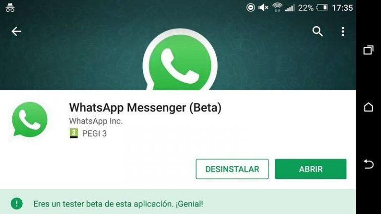 Beta de WhatsApp Para Android