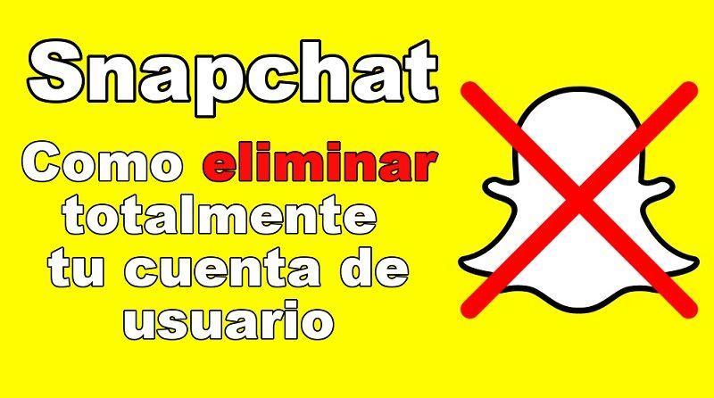Eliminar Cuenta de Snapchat
