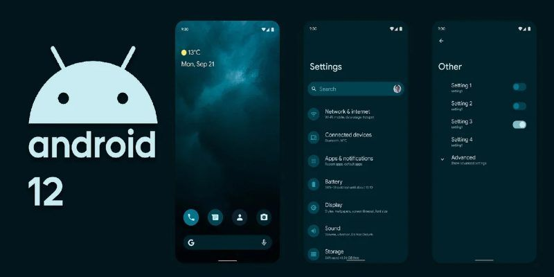 Modificaciones de Android 12
