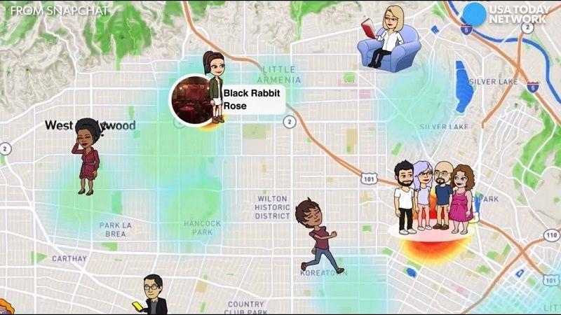 Snap Maps de Snapchat