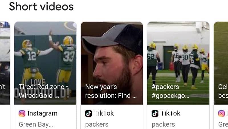 Videos de Instagram y TikTok