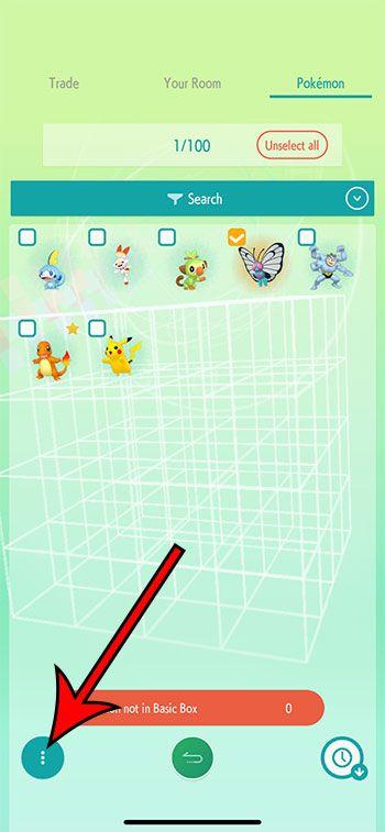 eliminar un Pokémon de Pokémon Home paso 5